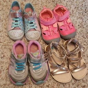 Lot of Toddler Girl's Shoes Size 8